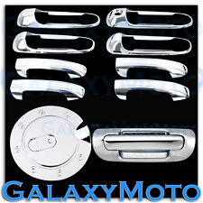 Chrome 4 Door Handle NO PSG KHo+Tailgate+GAS Cover for 99-04 JEEP GRAND CHEROKEE