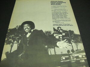 JOHNNIE TAYLOR knows something other singers don't know 1980 PROMO POSTER AD