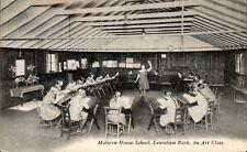 Lewisham. Malvern House School. An Art Class by P.A.Buchanan.