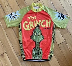 The Grinch Funny Novelty Christmas Cycling Jersey Size M - XXL (UK Seller)