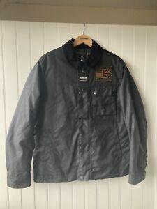 Barbour International Steve McQueen Black Workers Wax Jacket Size Medium Coat