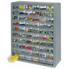 Storage Organizer Cabinet 60 Plastic Drawer Boxes Parts Container Bin Toy Garage