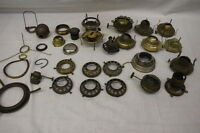 Lot of Vintage Oil Lamp Parts, Eagle,Queen Anne Burners, Ect. 30 Pieces in Total
