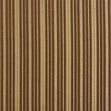 E606 Striped Brown Green Gold Damask Upholstery Drapery Fabric By The Yard