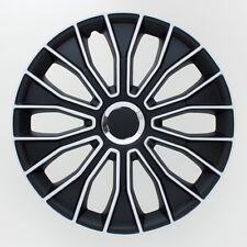 4 x Radkappen Radzierblenden 15 Zoll Schwarz Weiss Voltec Pro