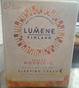 NEW SEALED - LUMENE Valo Nordic-C Overnight Bright Sleeping Night Cream (1.7 oz)