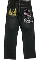 Christian Audigier Mens Embroidered Jeans Denim Size W34L34
