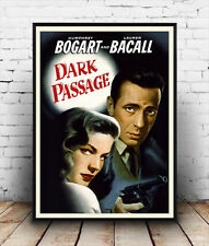 Dark Passage , Humphrey Bogart Vintage film poster reproduction.