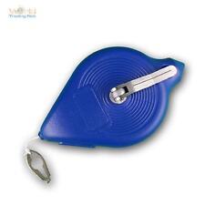 Schlagschnurgerät mit 30m Schlagschnur, blau, Metallkurbel/-gehäuse, Senklot