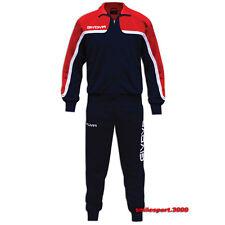 Givova Tuta Africa Training Allenamento Calcio Running Sport Uomo Donna L Rosso/blu