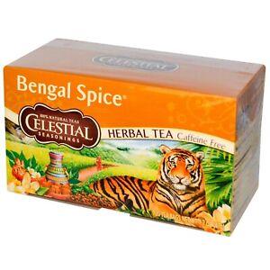 6 x 20 Serving Boxes Celestial Seasonings Bengal Spice Herbal Tea Exp 01/23