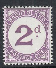 More details for basutoland 1961 sgd2aa- 2d violet - large d - mnh