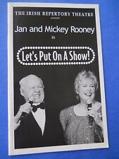 August 2004 - Irish Repertory Theatre Program - Let's Put On A Show - M. Rooney