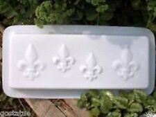 """heavy duty plastic edger edging mold fleur de lis 16"""" x 6"""" x 1.5"""" thick"""