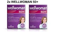 2x Vitabiotics Wellwoman 50+ Plus Advanced Vitamin Mineral Supplement 30 Tablets