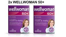 2x Vitabiotics Wellwoman suplemento mineral vitamina avanzado 50+ Plus 30 comprimidos