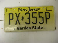 New Jersey NJ License Plate PX355P