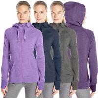 Head Women's High Altitude Rib Hoodie Thumb Holes Full Zip High Neck Sweatshirt