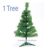 """24""""/2FT Holiday Decor Pine Green Fake Artificial Christmas Tree Office W/Stand"""