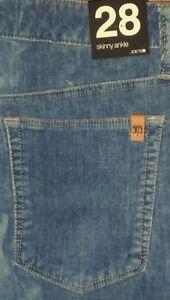 New Joe's Skinny Ankle Hi Rise Slim Fit Women's Lt. Blue Velvet Swede Pants 28