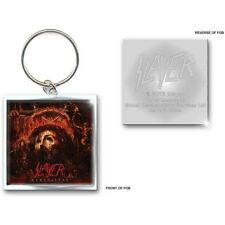 SLAYER album charme clé de la chaîne anneau carré métallique standard officiel