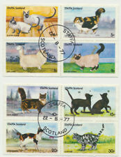 CATS & KITTENS Complete Set of 8 Colorful Cat Topicals Staffa - Scotland 1977