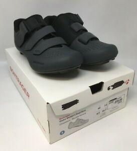 NEW Bontrager VOSTRA 3-Bolt EU 40 US 8.5 Women's Black Gray Road Shoes MSRP $110