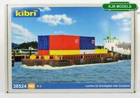 BNIB OO HO GAUGE KIBRI 38524 BARGE KIT PUSH BARGE WITH REMOVABLE HATCHES