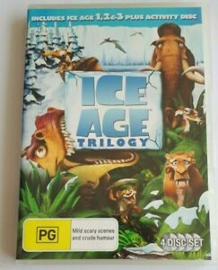 Ice Age Trilogy Kids 4 Disc  PAL DVD R4 VGC