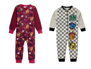 Boys Girls Kids Harry Potter 1Onesie One Piece Pyjama Sleepsuit Age 3-10 Years