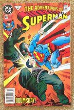 Adventures Of Superman #497 (DC 1992) Death of Superman NEWSSTAND VARIANT