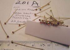 "Vtg Swarovski Brass Head Pins 2mm 1 1/2"" Rhinestone Crystal Glass Craft Mix lot"
