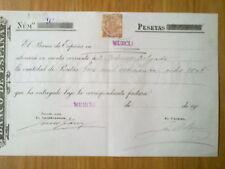 A107-SELLO FISCAL 1904  DOCUMENTO BANCO ESPAÑA MURCIA