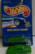 Hot Wheels Mean Green Passion 1 in pack and 1 loose Blue Card #263