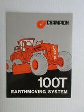 Champion 100T Motor Grader Literature
