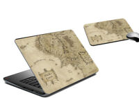 Vintage Map Laptop Skin & Mousepad Protection Sticker Cover Vinyl Skin Decal