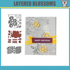 CH LAYERED BLOSSOMS Stamps and Cutting Dies Metal DIY Scrapbooking Card