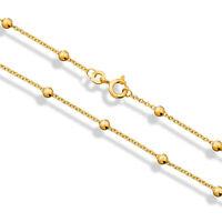 Fußkette 333 Gold Kette Kugeln Gelbgold 8 Karat 25cm Neu