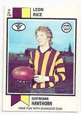"1974 Scanlens (21) Leon RICE Hawthorn "" Excellent """