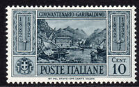Italy 10 Cent Stamp c1932 (April) Garibaldi Mounted Mint Hinged (5502)
