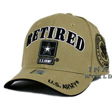 U.S. ARMY hat RETIRED ARMY Military Official Licensed Baseball cap- Khaki/ Black