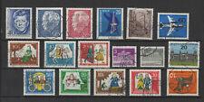 1962-66 Allemagne Berlin 17 timbres oblitérés /T2275