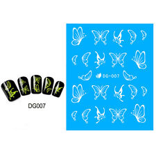 Magic Luminous Nail Art Sticker Glow in The Dark Butterfly Tips Decor