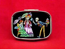 SUGAR SKULL DAY OF THE DEAD SKELETON P2 METAL PILL MINT BOX