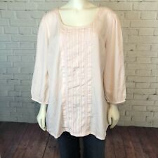 Oh Baby Light Pink Maternity Top Long Sleeve Shirt Blouse Size XL Career Dressy