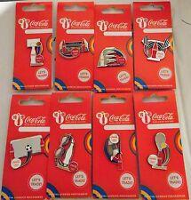 London 2012 Olimpiadi Coca Cola Bottiglia Sport eqipment 8 pin badge Set