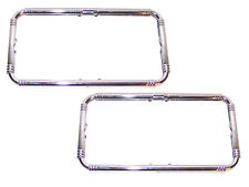 PAIR CHROME Accessory License Plate Frames 1935-1954 Ford Lincoln Mercury