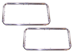 PAIR CHROME Accessory License Plate Frames 1935-1954 Packard Hudson Nash Stude