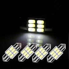 4X White 1.22 inch/31mm 6SMD-5630 Car Interior Festoon LED Lights For Dome Map