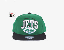 New York Jets NFL Mitchell & Ness Arch Logo Snapback Hat Cap Green Black